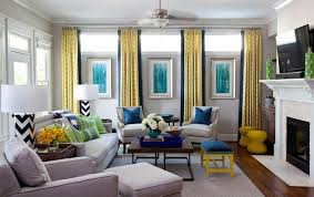 blue and yellow walls cheap beach cottage with bright blue yellow