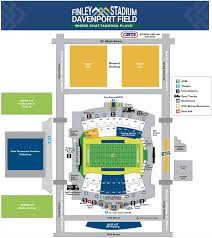 Utc Parking Map Finley Campus Map U2013 Finley Stadium Davenport Field First