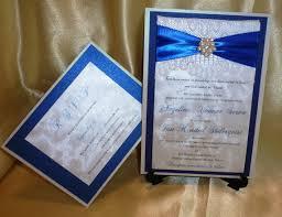 Royal Blue Wedding Invitations Royal Blue Wedding Invitation Sample