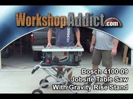 bosch 4100 09 10 inch table saw bosch 4100 09 10 jobsite table saw with gravity rise stand youtube