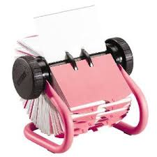Rolodex Desk Accessories Girly Desk Accessories Pink Rolodex Business Card Rotary File