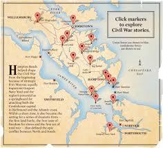 Map Of Williamsburg Virginia by Hampton Roads Civil War Map Daily Press