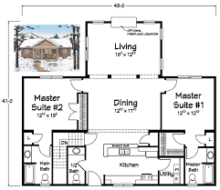 house plans 2 master suites single i like this minus the dining room plus the master bedrooms need