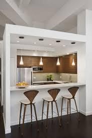 minimalist small kitchen ideas chrome pendant lights countertop