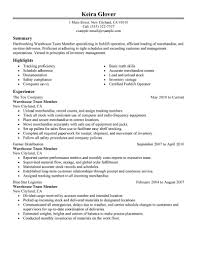 Warehouse Skills Resume Certified Forklift Operator Resume Resume For Your Job Application