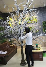 2015 sale white led cherry blossom solar tree light for