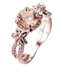 flower rings jewelry images Champagne topaz flower ring november birthstone bamos jewelry JPG