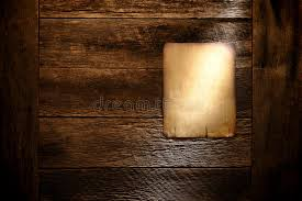 antique wood wall paper poster board on aged antique wood wall stock image