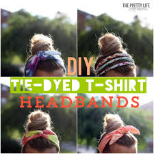tie dye headbands diy tie dye headbands from t shirts diycandy
