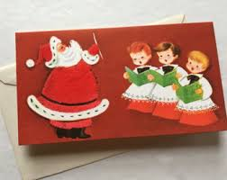 vintage christmas cards etsy