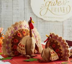 thanksgiving felted wool turkeys pottery barn