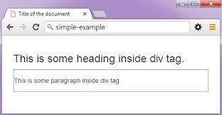 html div tag html div tag