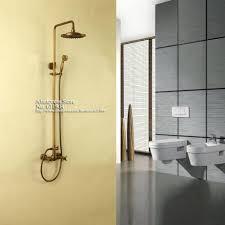 Antique Brass Bathroom Faucet by Adjustable Shower Head Arm Antique Brass Wall Mount Rain Fall