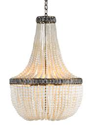 Ivory Chandelier Ivory Beaded Empire Chandelier Cottage Bungalow