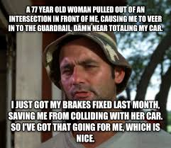 Neck Brace Meme - livememe com bill murray so i got that going for me which is nice
