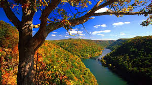 West Virginia landscapes images Rivers hawks nest state park west virginia autumn hills forest jpg