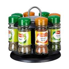 Flat Spice Rack Premier Housewares Spice Rack With 8 Schwartz Spices Amazon Co Uk