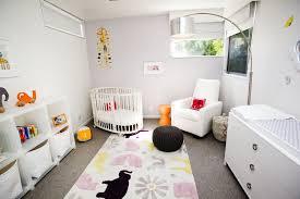 Nursery Area Rugs Attic Unisex Baby Nursery With Stylish Bedding And Area Rug