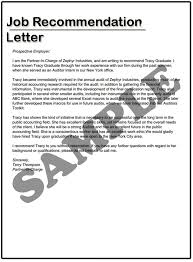 how to write a job recommendation letter samples