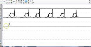 letter u0027d u0027 cursive handwriting youtube