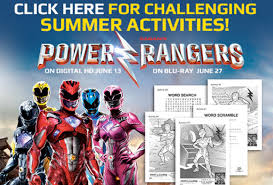 power rangers dino super charge extinction activty sheets
