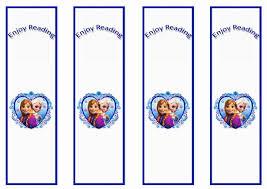 8 images frozen bookmarks printable disney frozen