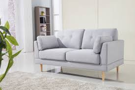 mid century modern ultra plush linen fabric loveseat walmart com