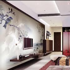 hall interior colour wallpaper chinese background in the living room with hanging tv