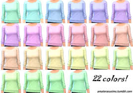 sims 4 cool kitchen stuff sweater pastel recolor love 4 cc finds