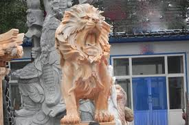 roaring statues for lawn ornaments on sale marble bronze