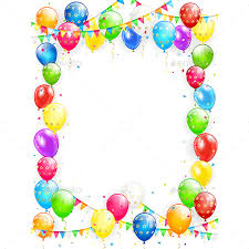 birthday balloons birthday balloons and confetti on white background by losw