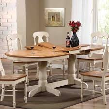 Round Dining Table Extends To Oval Farmhouse Tables Belle Escape Of With Oval Dining Table Images