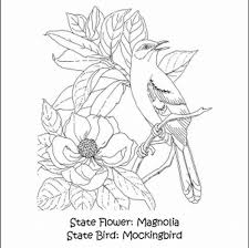 michigan state flag coloring page free coloring pages