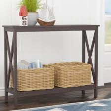 black sofa table with drawers black console sofa tables you ll love wayfair