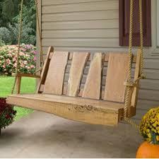 rustic porch swing swings you ll love wayfair 8 wood 19 best ever