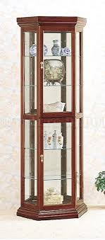 cherry corner curio cabinet contemporary curio cabinets solid wood cherry finish contemporary