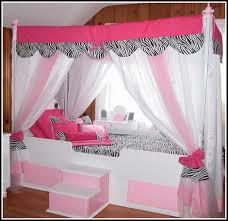 Canopy Bed Curtains Queen Twin Size Canopy Bed Curtains Yellow And Pink Room Design Idea