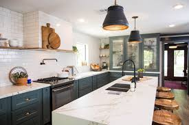 navy blue kitchen cabinets with black handles 15 gorgeous blue kitchen designs you ll want to re create