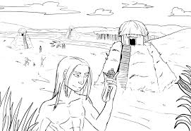 coloring pages coloring native indian american woman dans