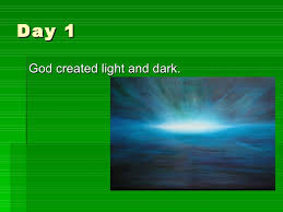 what day did god create light the christian creation story
