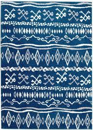 Tribal Area Rug Ikat 07 Blue White Tribal Area Rug Buy Rite Rugs