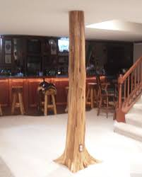 basement wrap authentic cedar log basement pole covers support post wrap rustic