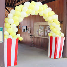 circus popcorn balloon arch by inflation sensations circarnival