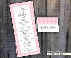 Diy Wedding Menu Cards 9 Best Images Of Diy Wedding Menu Templates Free Printable