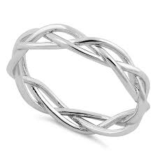 braided ring sterling silver braided ring