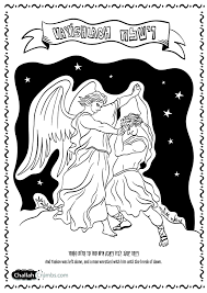 coloring page for parshat vayishlach click on picture to print