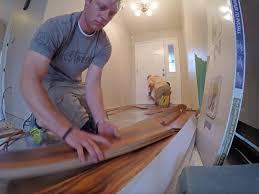 Installing Laminate Flooring In Hallway Laminate Flooring Some Tricky Hallways Youtube