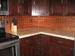 kitchen backsplash tin interior design