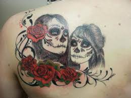 male female sugar skull tattoo pictures to pin on pinterest