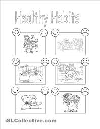 healthy plate coloring page 41 free esl healthy food worksheets healthy unhealthy good food